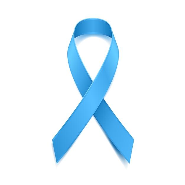 Movember - mês de conscientização do câncer de próstata. conceito de saúde masculina. símbolo de fita azul. bom para cartaz, banner, cartão. Vetor Premium