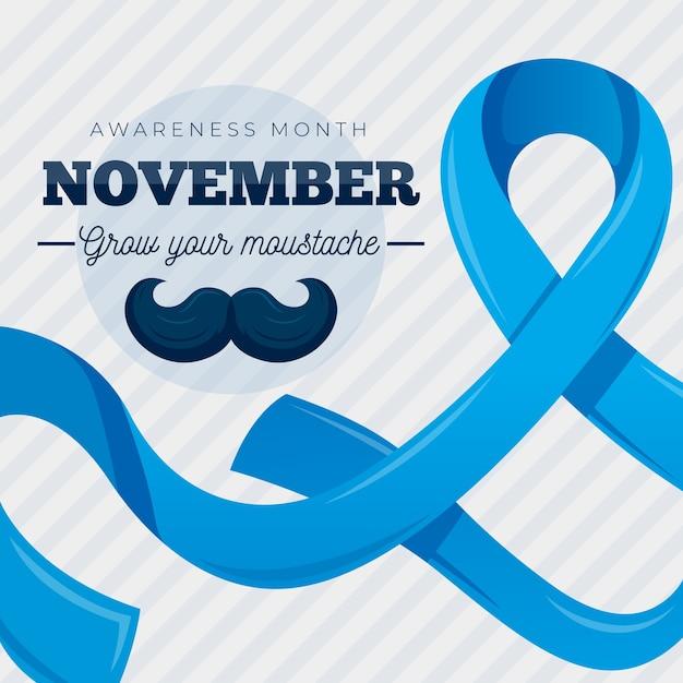 Movember plana crescer seu bigode Vetor grátis