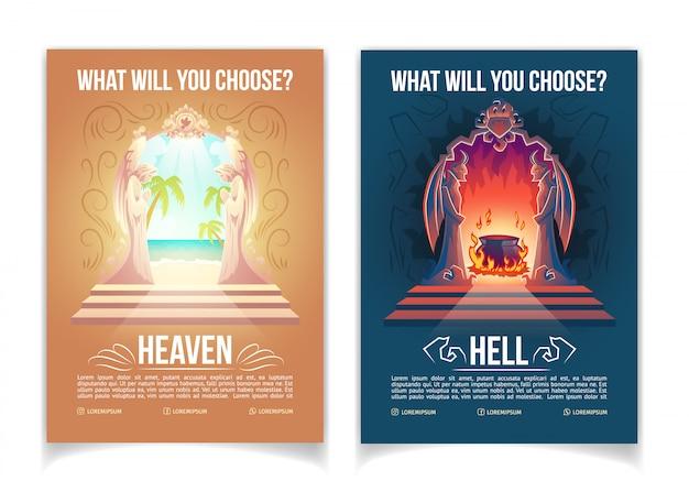 Movimento religioso, igreja do cristianismo ou desenho animado de ensino Vetor grátis