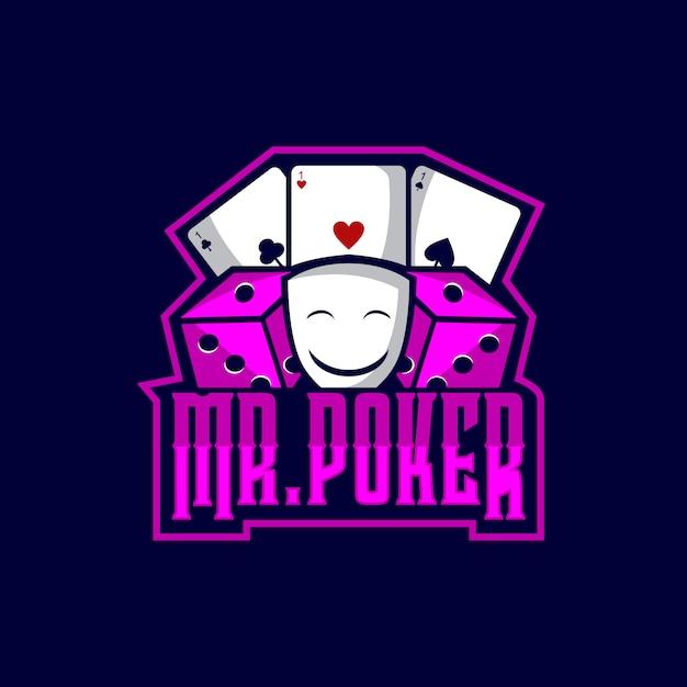 Mr poker logo sports Vetor Premium