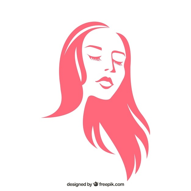 Mulher bonita Vetor grátis