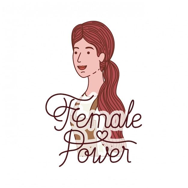 afd190fe3ef6e Mulher com personagem de avatar de poder feminino de rótulo | Baixar ...