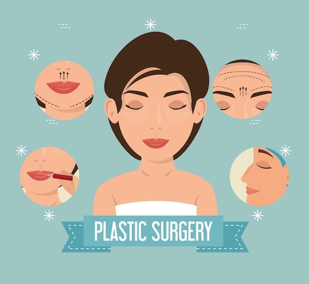 Mulher no processo de cirurgia plástica Vetor grátis