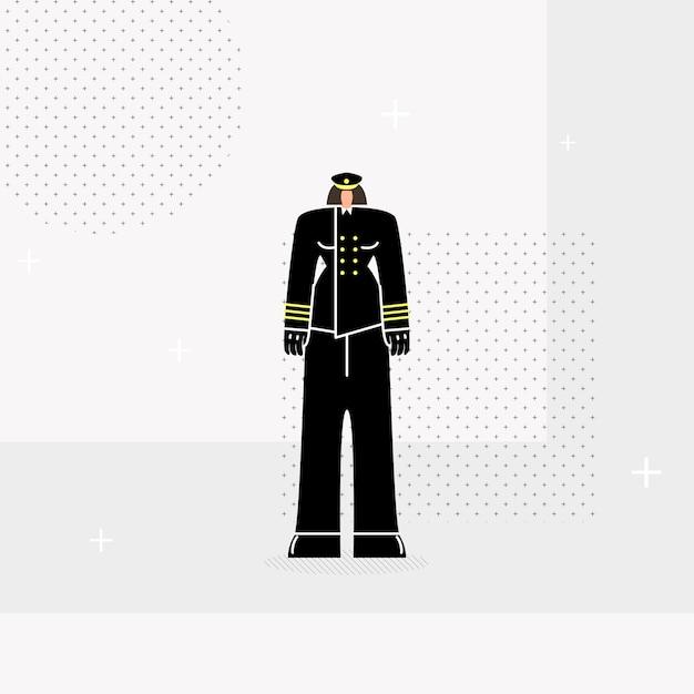 Mulher policial plana Vetor Premium