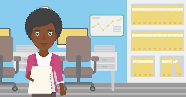 Mulher que dá a ilustração do vetor do resumo. Vetor Premium