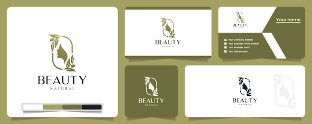 Mulheres bonitas, elegantes, naturais, minimalistas, inspiração para o design de logotipos Vetor Premium