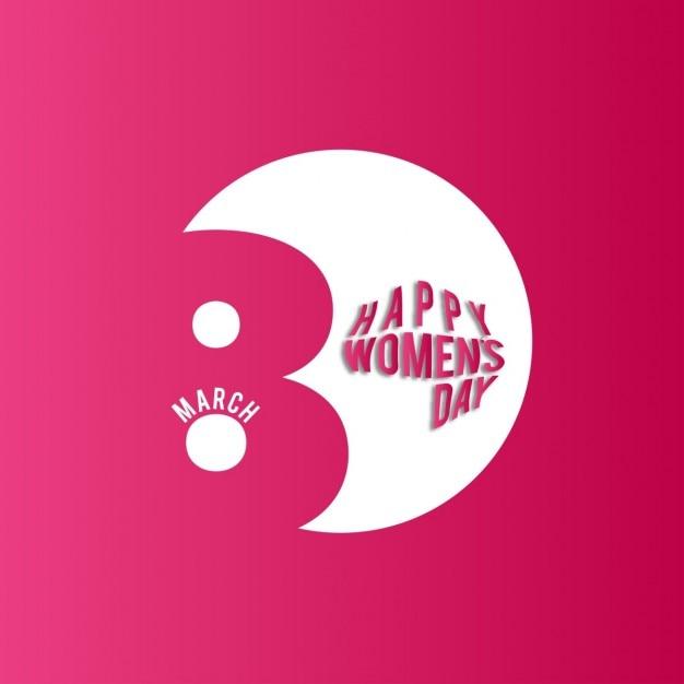 Mulheres felizes do dia 08 de março no fundo vermelho Vetor grátis