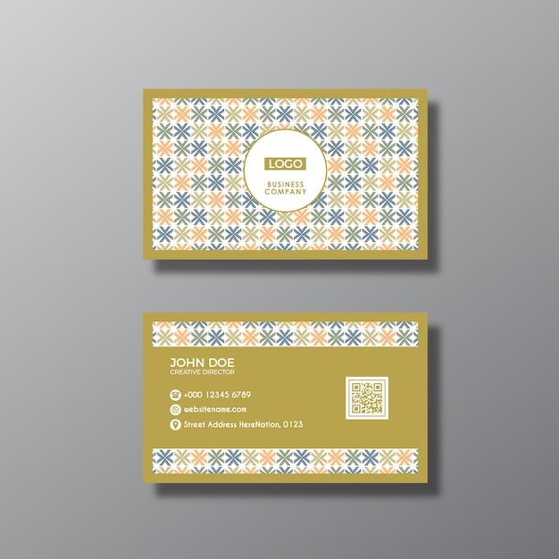 Multicolor cartão de visita Vetor grátis