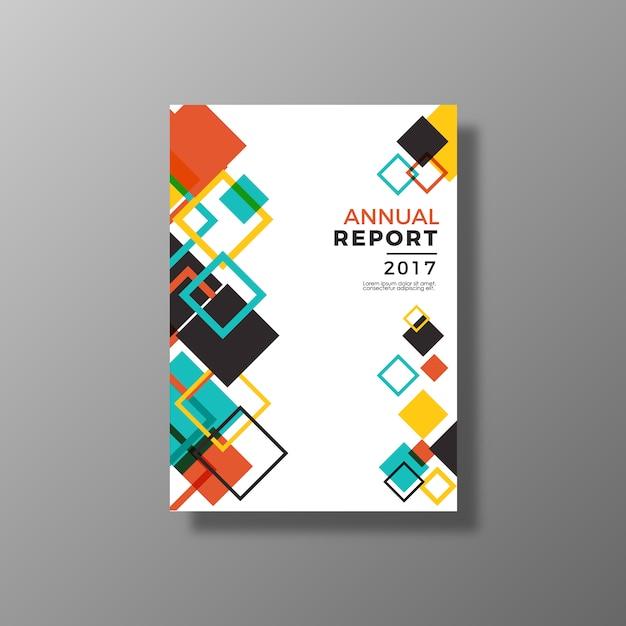 Multicolor projeto de relatório anual Vetor grátis