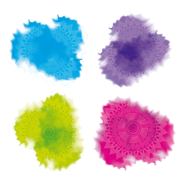 Multicolored splash powder abstract decoration Vetor Premium