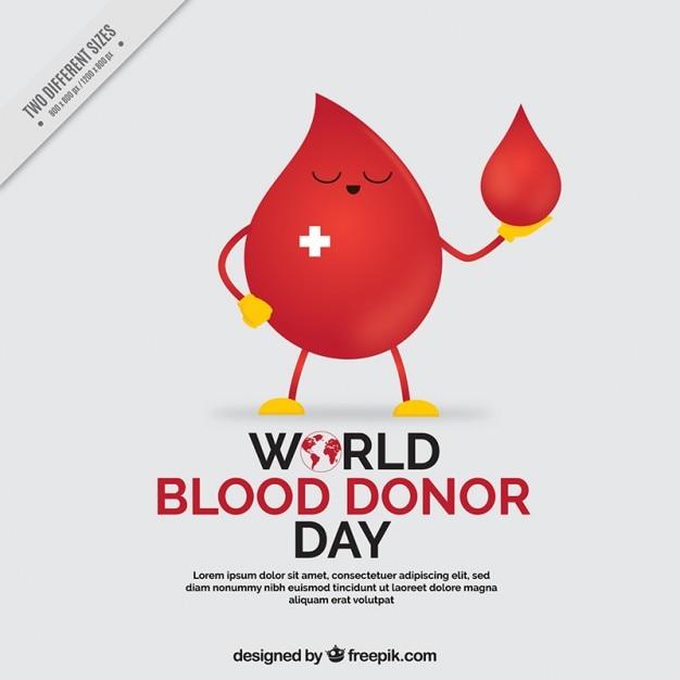 Mundial de doadores de sangue fundo do dia Vetor grátis