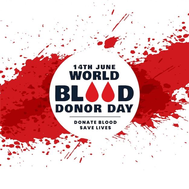 Mundo abstrato doador de sangue dia conceito fundo Vetor grátis