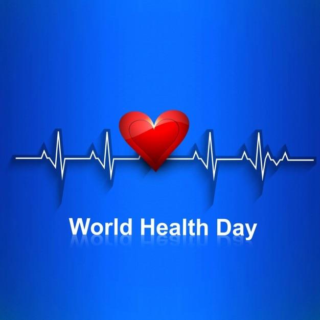 Mundo bonito cartão dia da saúde Vetor grátis