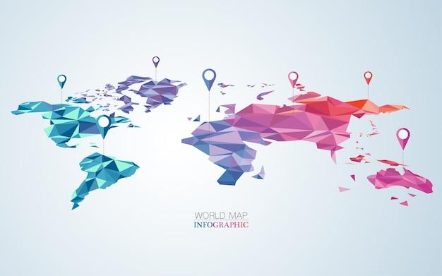 Mundo colorido Vetor Premium
