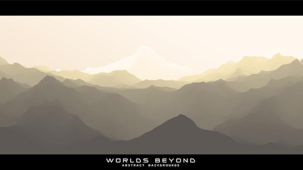 Mundos além da paisagem abstrata Vetor grátis