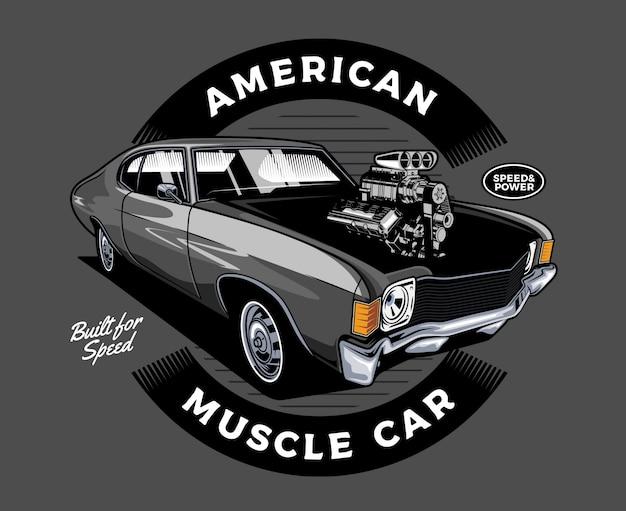 Muscle car americano Vetor Premium