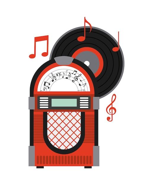 Musica antiga Vetor Premium