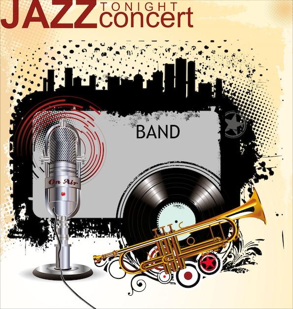 Música jazz Vetor Premium