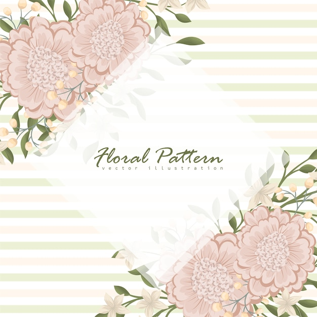 Na moda padrão floral sem emenda em ilustração vetorial Vetor grátis
