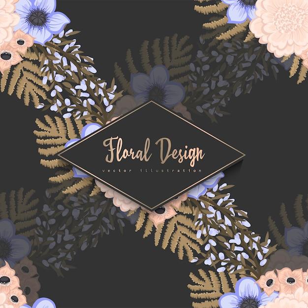 Na moda sem costura padrão floral Vetor grátis