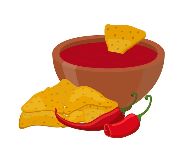 Nachos mexicanos Vetor Premium