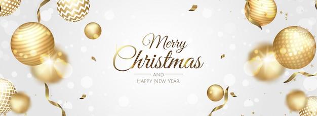 Natal de fundo vector. venda de natal, banner da web de férias. Vetor Premium