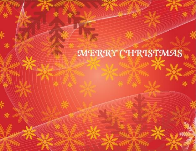 Natal de fundo vermelho vetor com flocos de neve e linhas de fluxo Vetor grátis