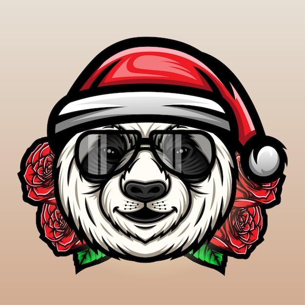 Natal panda Vetor Premium