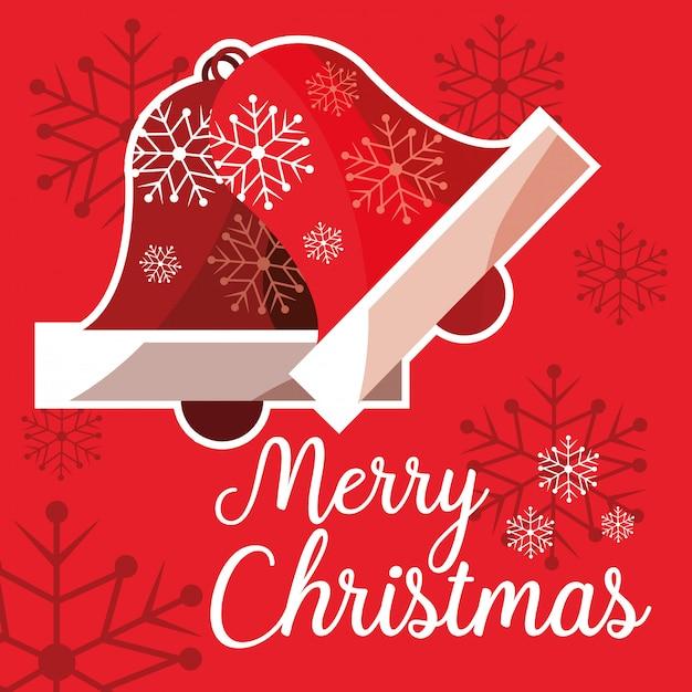 Natal, sinos, decorativo, ícone Vetor Premium