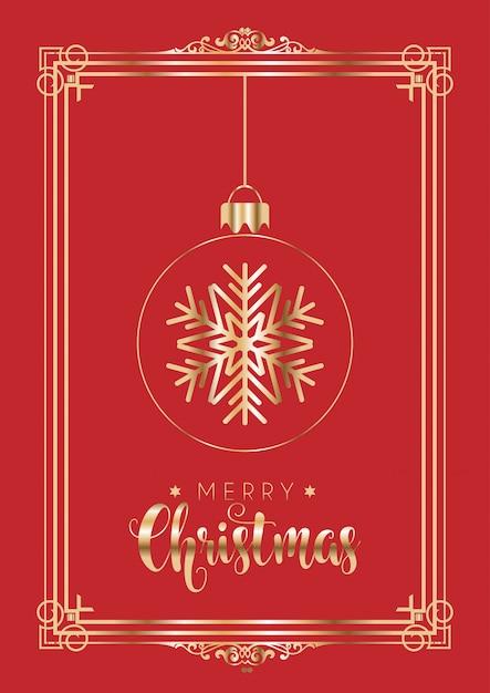 Natal vermelho e dourado elegante Vetor grátis