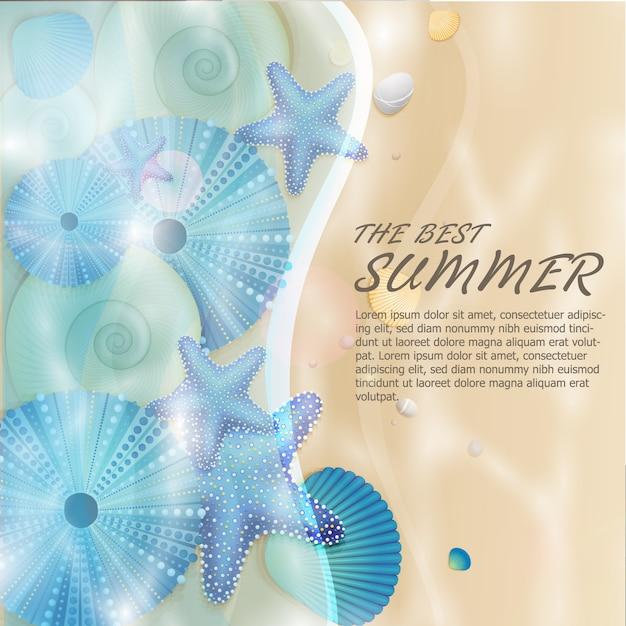 Natureza do verão do vetor Vetor grátis