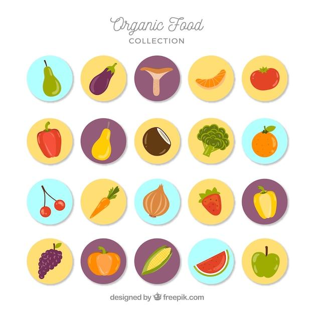 Natureza publicações de alimentos orgânicos Vetor grátis