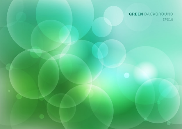 Natureza verde turva fundo com bokeh Vetor Premium