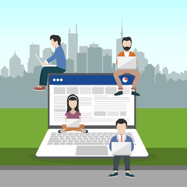 Navegar no conceito de internet Vetor grátis