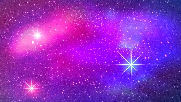 Nebulosa colorida no fundo do espaço Vetor Premium