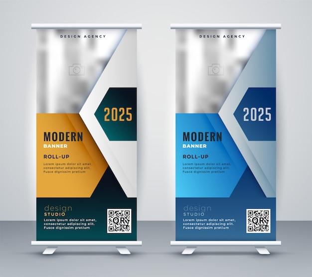 Negócio abstrato arregaçar banner de apresentação Vetor grátis