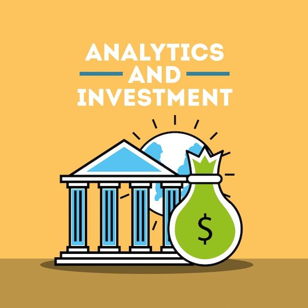 Negócio de análise e investimento Vetor Premium