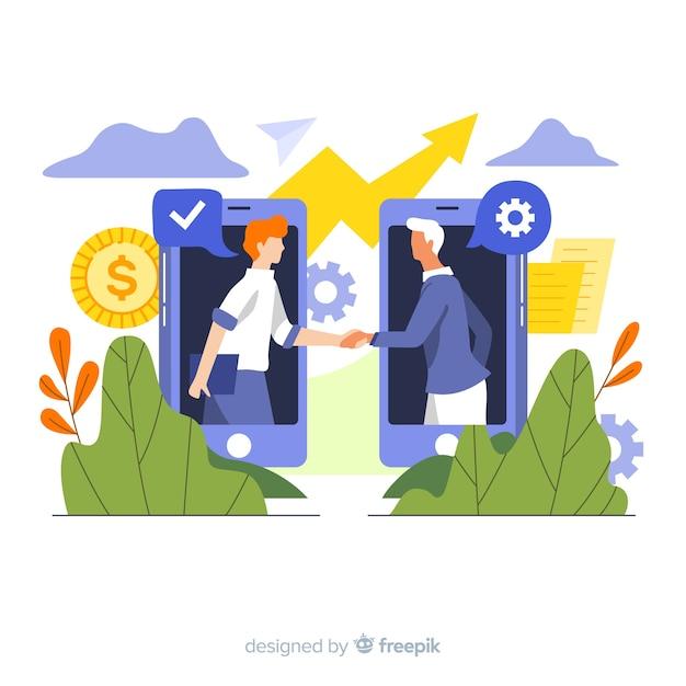 Negócio negócio Vetor grátis