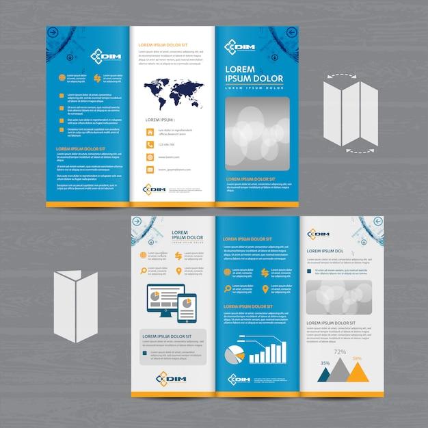Negócios em brochura tri fold Vetor Premium