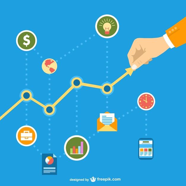 Negócios em rede social gráfico Vetor grátis