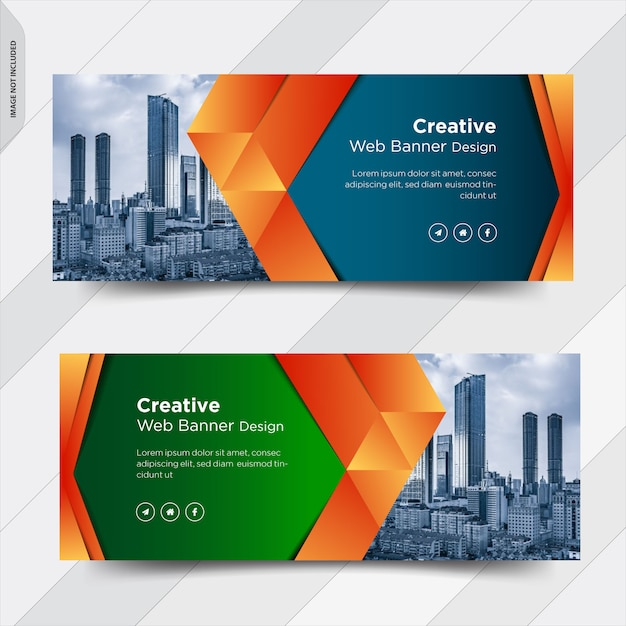 Negócios facebook capa mídia social banner post design Vetor Premium