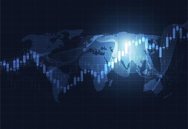 Negócios vela pau gráfico gráfico do mercado de ações Vetor Premium