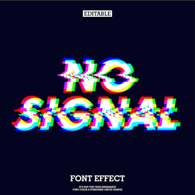 Nenhum efeito de tipo de sinal de sinal Vetor Premium