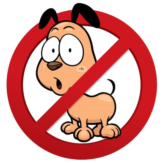 Nenhum sinal de cachorro Vetor Premium