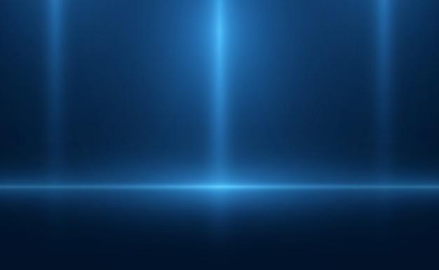 Néon de cena azul de fundo vazio Vetor Premium