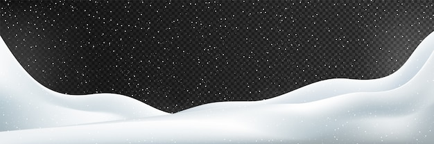 Neve. ilustração do inverno isolada. Vetor Premium