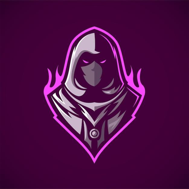 Ninja assassin mascot logo Vetor Premium