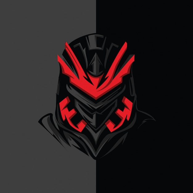 Ninja sci-fi Vetor Premium