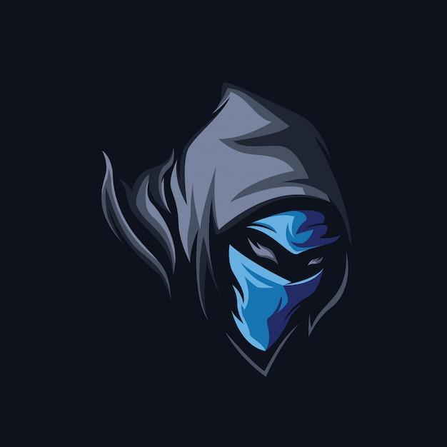 Ninja sombrio Vetor Premium