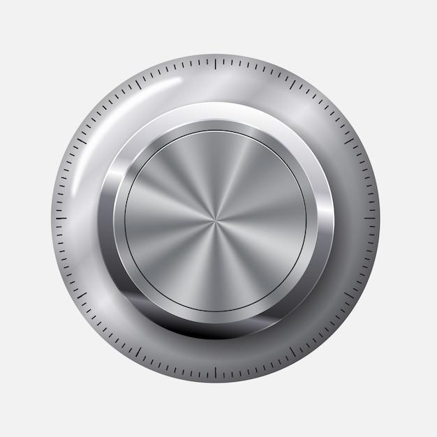Nível do botão de discagem Vetor Premium